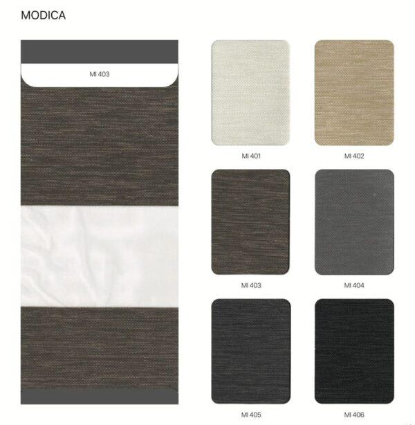 bảng màu rèm cầu vồng hàn quốc modero Modica