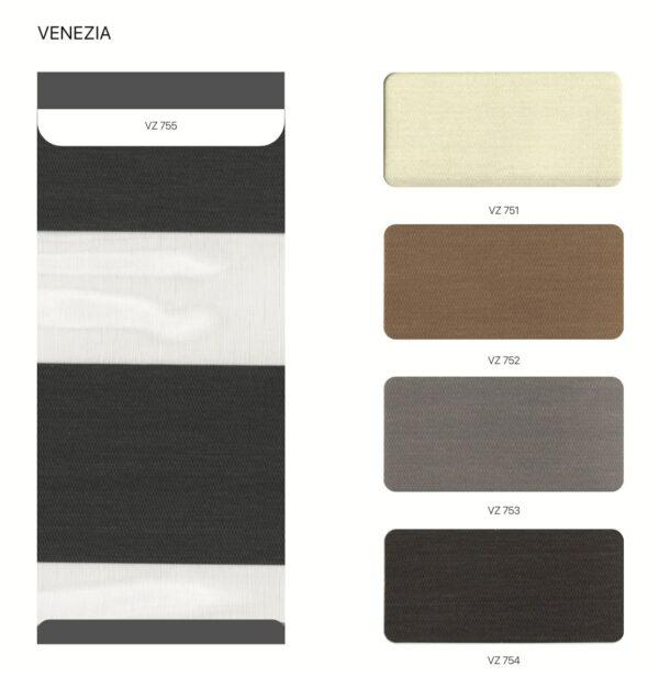 bảng màu rèm cầu vồng hàn quốc modero Venezia
