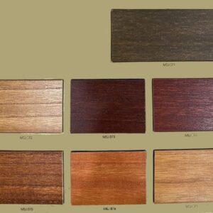 bảng màu rèm gỗ bách