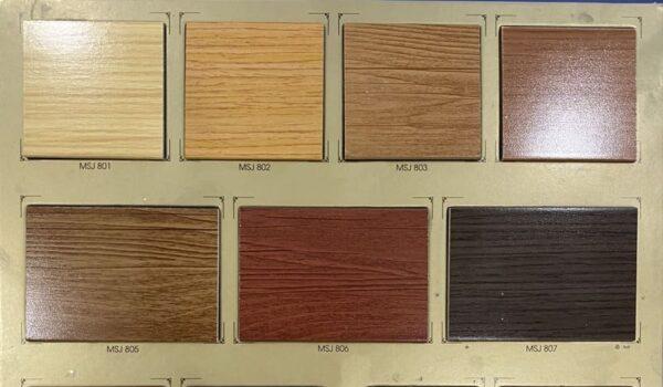 bảng màu rèm gỗ đoạn american