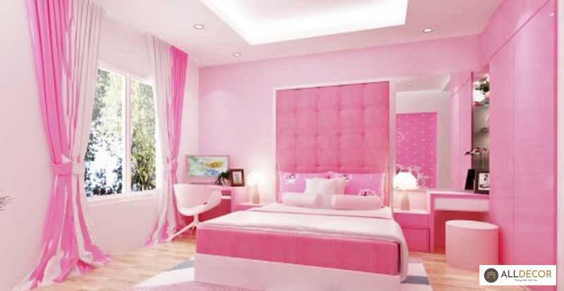rèm hồng cho phòng ngọt ngào
