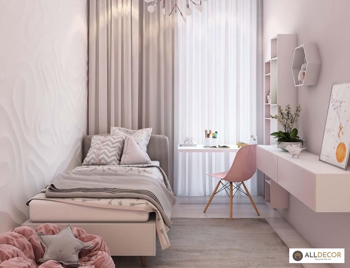 rèm voan cho phòng ngủ nhẹ nhàng