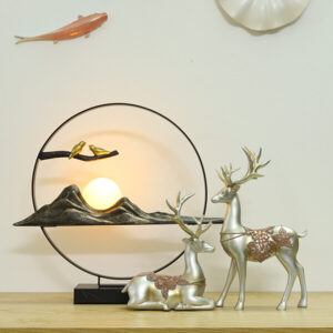 đồ decor đèn cặp chim và hươu bạc
