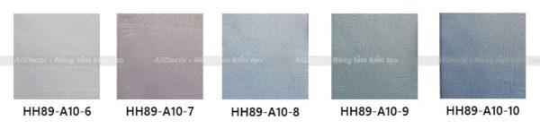 bảng mã rèm vải hồng hạnh mã hh89-a10