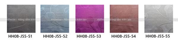 bảng màu rèm vải hồng hạnh mã hh08-j55