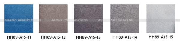 bảng màu rèm vải hồng hạnh mã hh89-a15