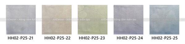 bảng màu rèm vải hồng hạnh mã hh02-p25