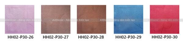 bảng màu rèm vải hồng hạnh mã hh02-p30