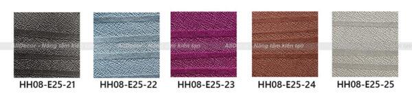 bảng màu rèm vải hồng hạnh mã hh08-e25