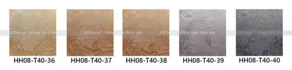 bảng màu rèm vải hồng hạnh mã hh08-t40