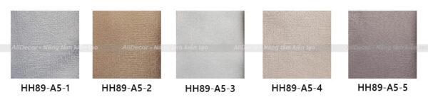 bảng màu rèm vải hồng hạnh mã hh89-a5