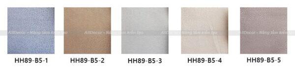 bảng màu rèm vải hồng hạnh mã hh89-b5