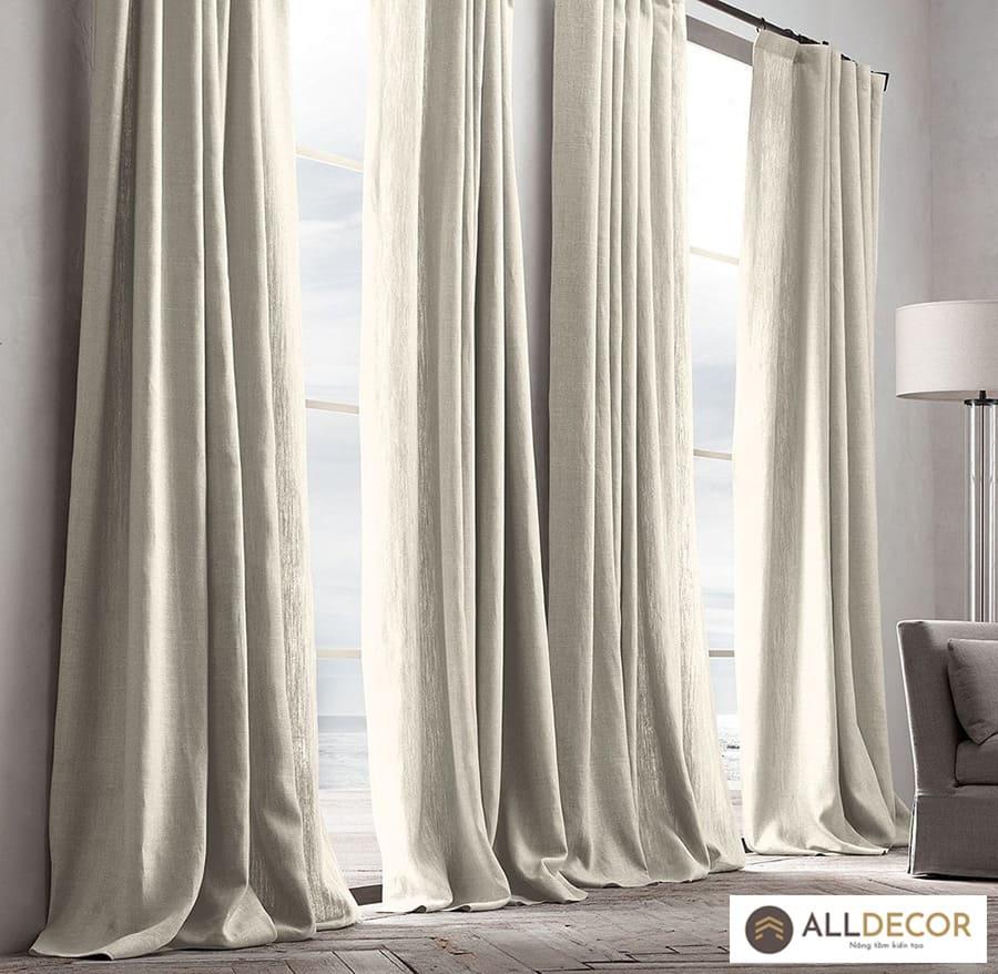 các loại vải may rèm cửa vải bố