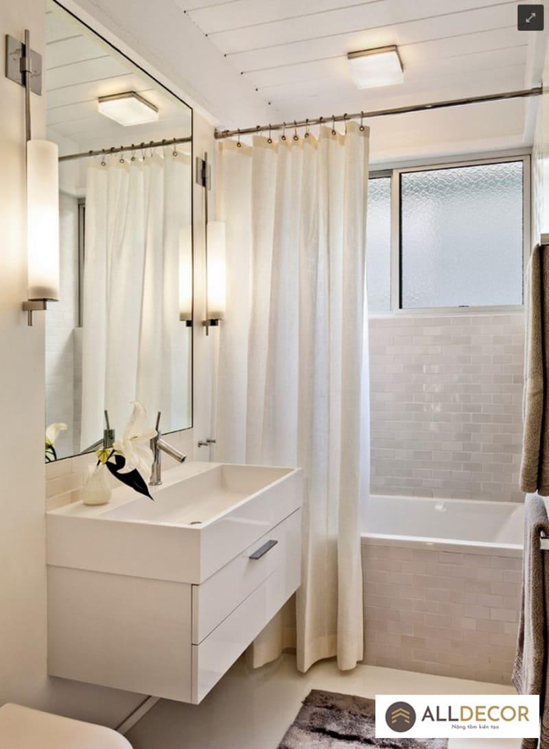 cách chọn rèm phòng tắm nhỏ