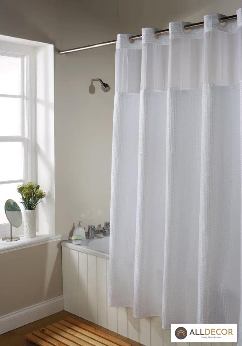 có nên sử dụng rèm nhà tắm không