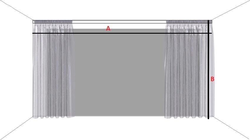 hướng dẫn cách đo rèm vải âm trần