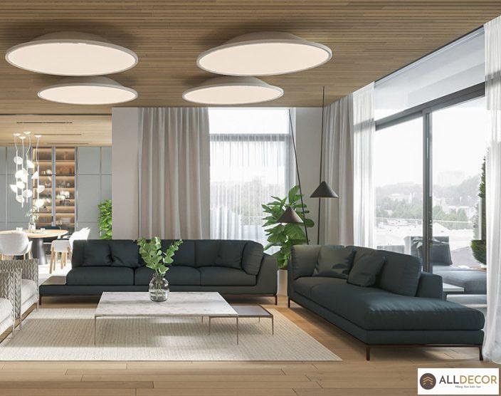 rèm vải phong cách thiết kế nội thất hiện đại