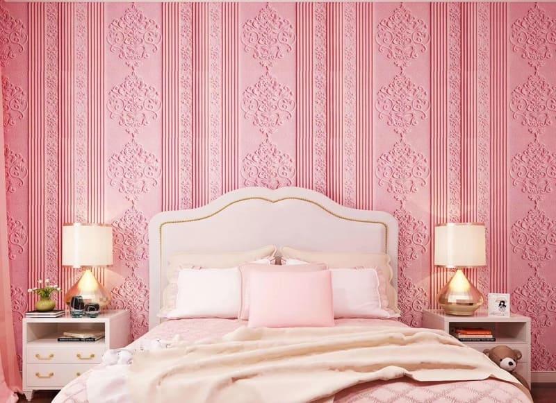 giấy dán tường màu hồng của Đức