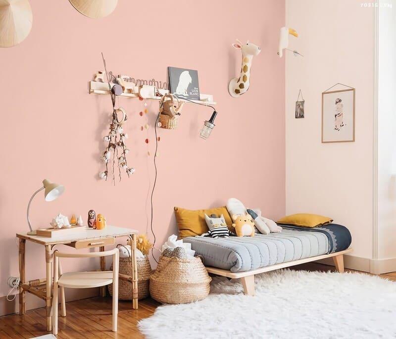 giấy dán tường màu hồng pastel