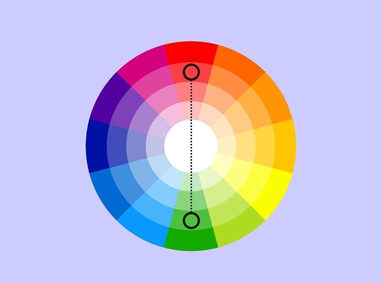 nguyên tắc phối màu bổ sung